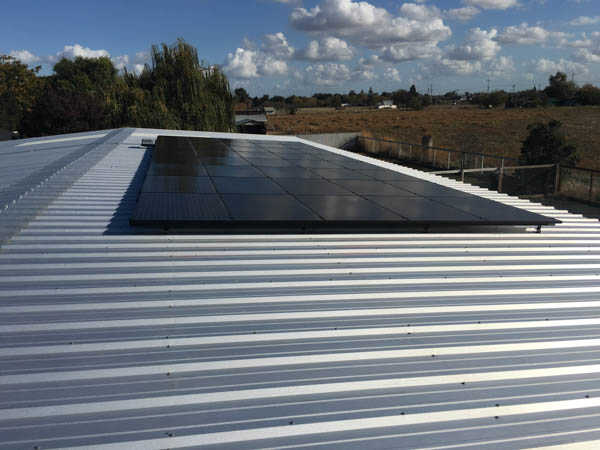 Agricultural Solar system installation by Rockridge Renewables in Concord, CA
