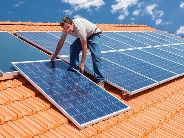Solar panels installed on a Walnut Creek home by Rockridge Renewables.