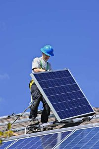 Solar panels installed by Walnut Creek solar team, Rockridge Renewables.